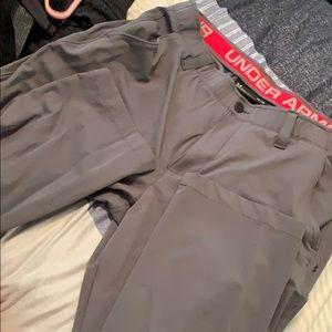 Brand new grey UA bootcut pants